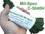 110 foot hank of Paracord 550 Mil-Spec C-5440H Compliant