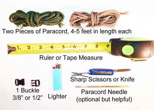 Materials Needed To Make Paracord Bracelets